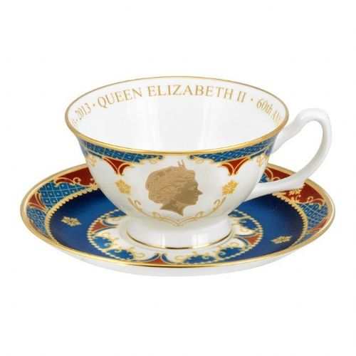 Royal Worcester Coronation Anniversary Tea Cup and Saucer